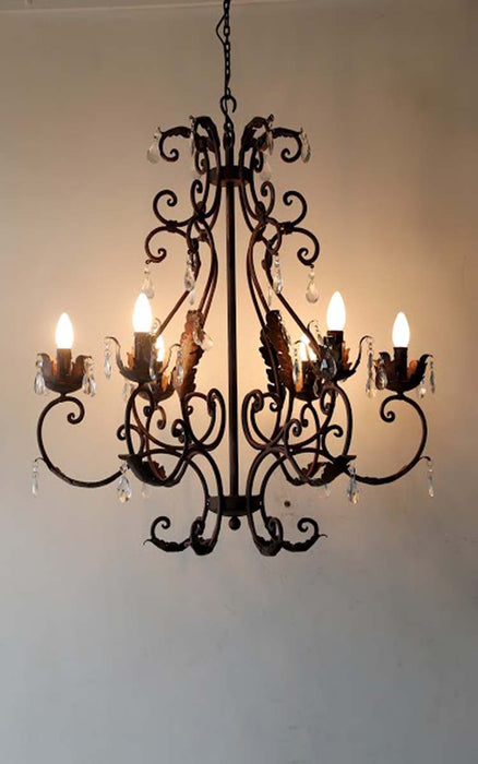 Carnation Chandelier (6 arms)