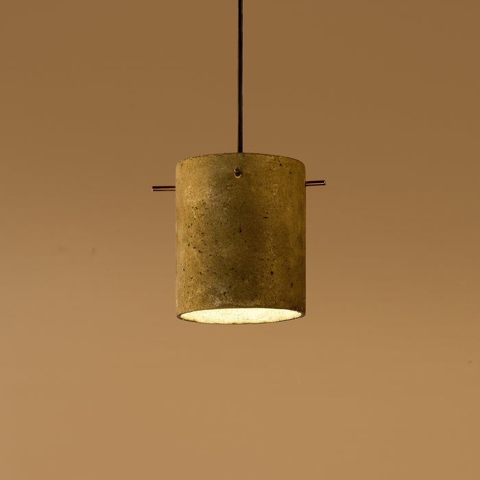 Canister Assorted with Copper Pegs Pendant Lamp