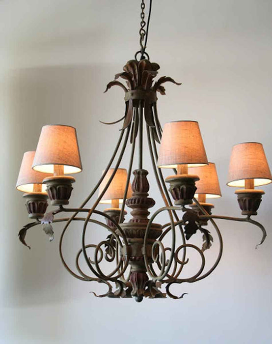 Cornflower Chandelier (6 arms)
