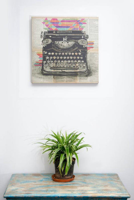 Love Typewriter Vintage Wall Art