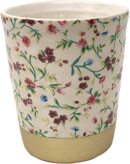 Floral Decal white-Lavender & Tonka Candle