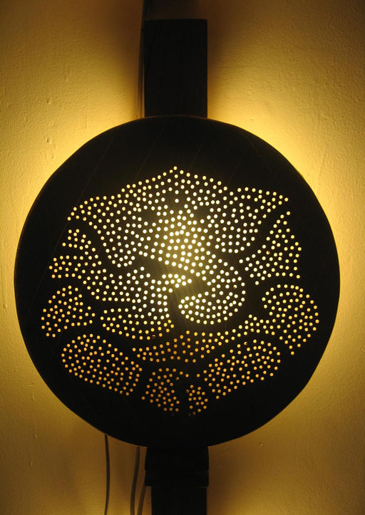 Ganesha Thali Wall Lamp (Large)