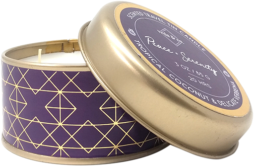 Travel tin-Coconut Candle