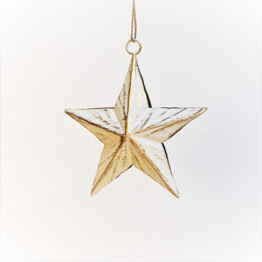 Auric Star Decor Pendant (White and Gold)