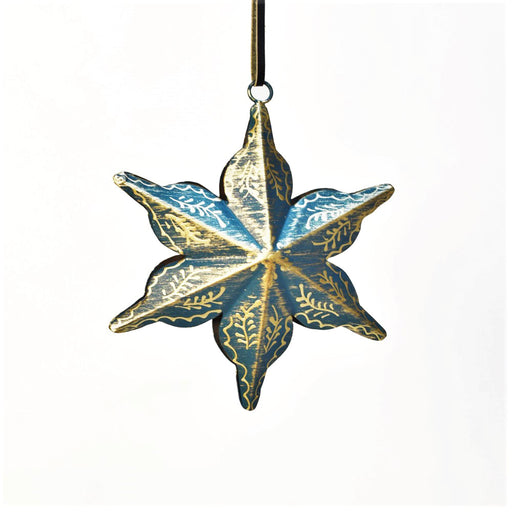 Hand Painted Floral Hanging Star
