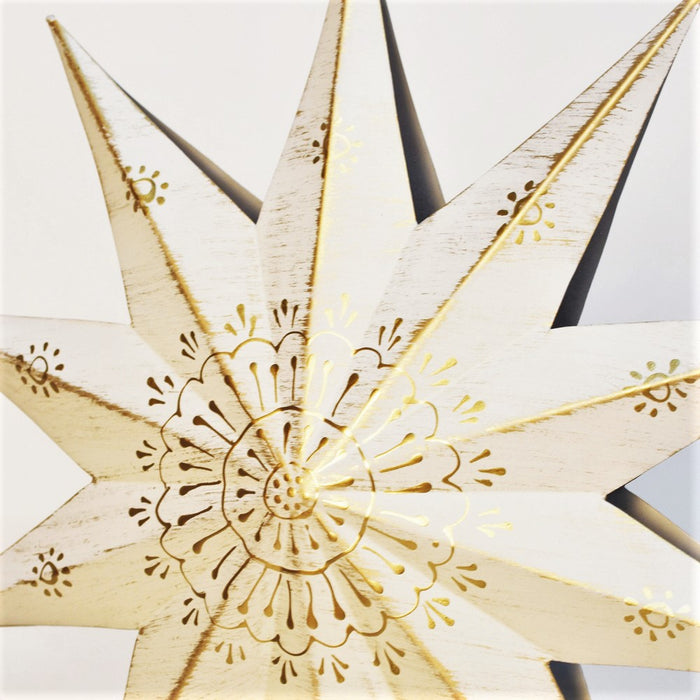 Decorative Hanging Star (White & Gold )