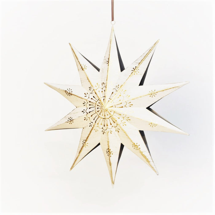 Agnes Star Decor Pendant (White and Gold)