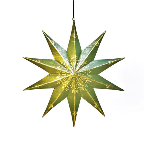 Agnes Star Decor Pendant (Green)