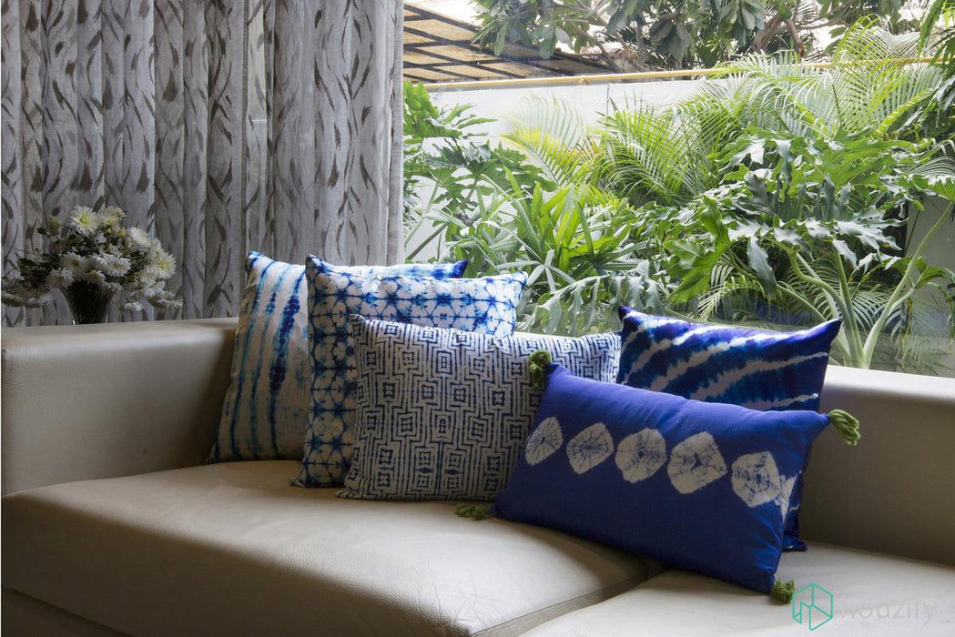 Boxed Up Indigo Cushion Cover