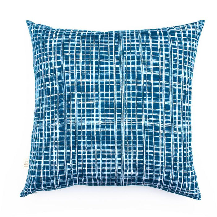 Blueberry Check Cushion Cover