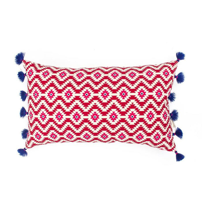 Ikasa Red Cushion Cover
