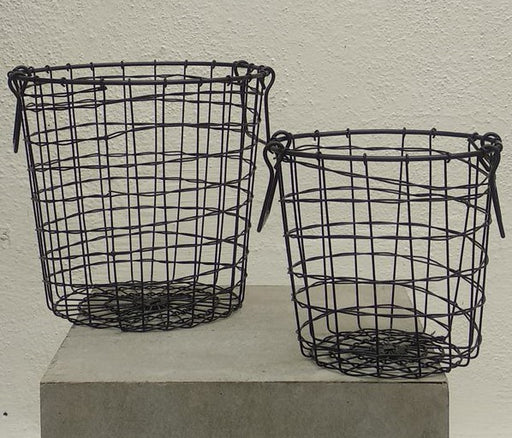Round  Wire Black Basket