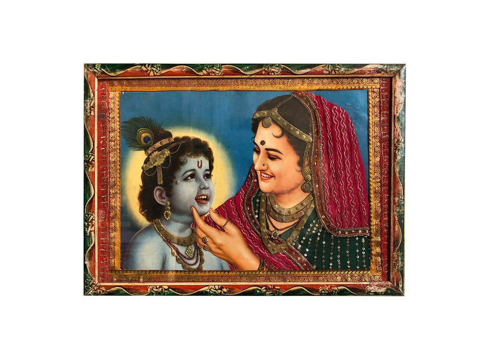 Krishna and Yashoda Oleograph