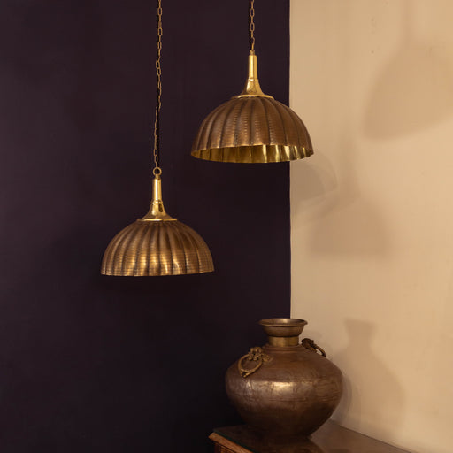 Antique Fluted Pendant Lamp