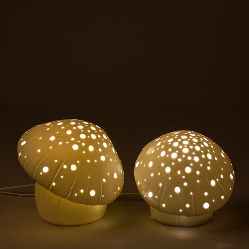 Small Mushroom Ceramic Table Lamp