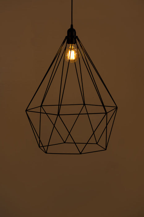 Diamond Wire Pendant Lamp (Small) (Black)