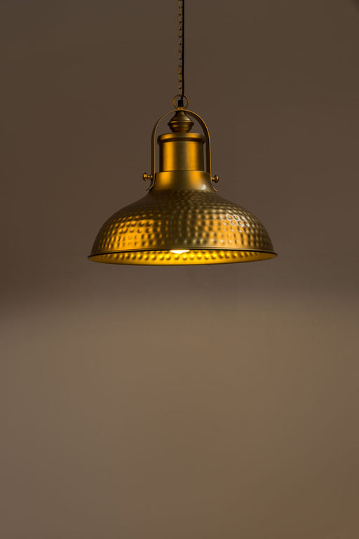 Polka Dot Dome Brass Pendant Lamp