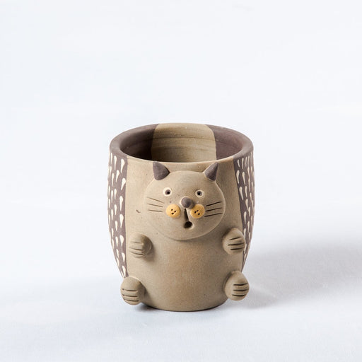 Clay Cat Planter