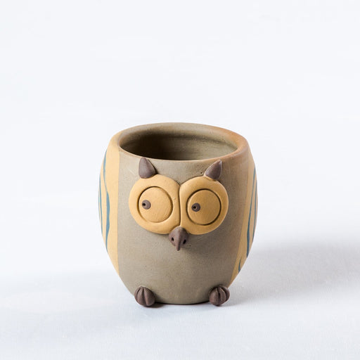 Clay Owl Planter