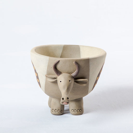 Clay Cow Planter