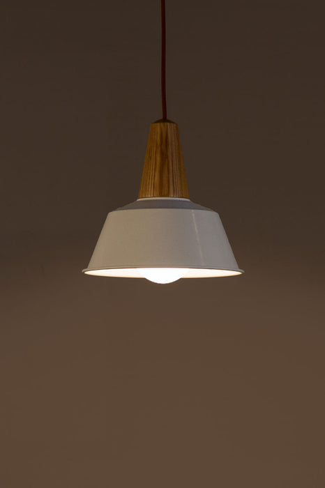 Zac Pendant Lamp (White & Gold)