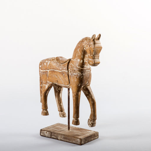 Bronco Wooden Horse With Stand