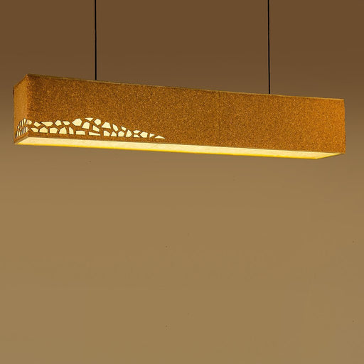 Laser Cut Cork Box Light Large Pendant Lamp
