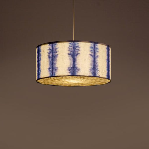 Drum Shibori Linear Pendant Lamp