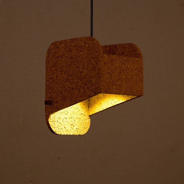 Jude Sliced Pendant Lamp (Dark Cork)