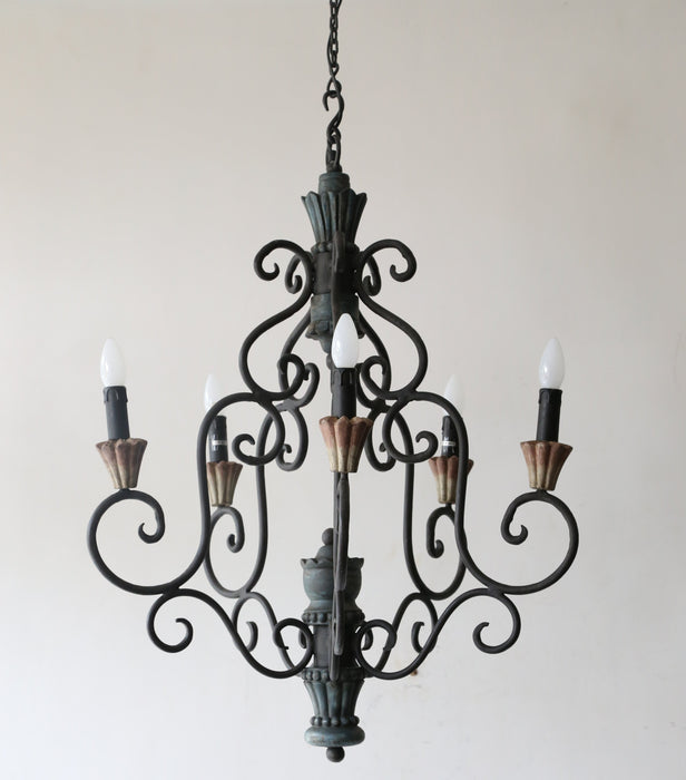 Golden Spiral Chandelier (5 arms)