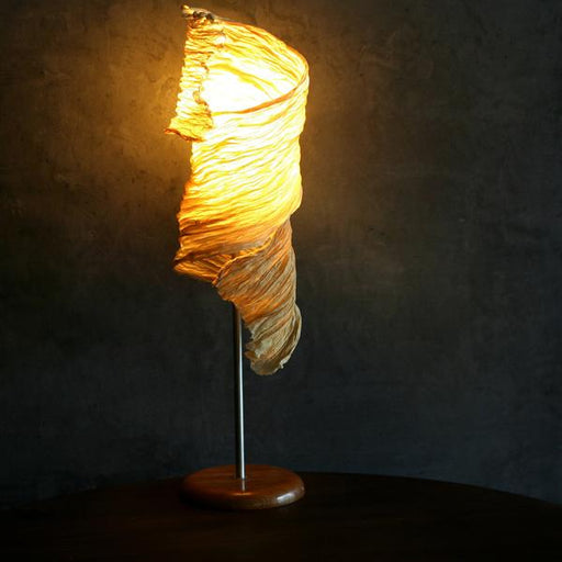 Leafcurl Crushed Paper Table Lamp