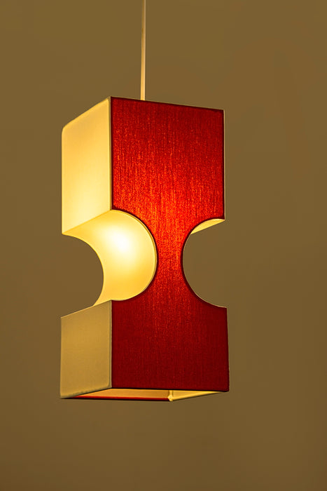 Hublot Zen Pendant Lamp (Red & White) (Small)