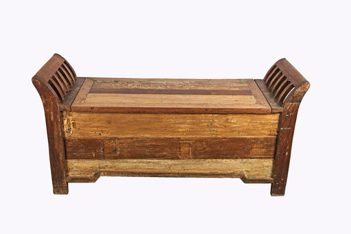 Art Wooden Shoe Bench