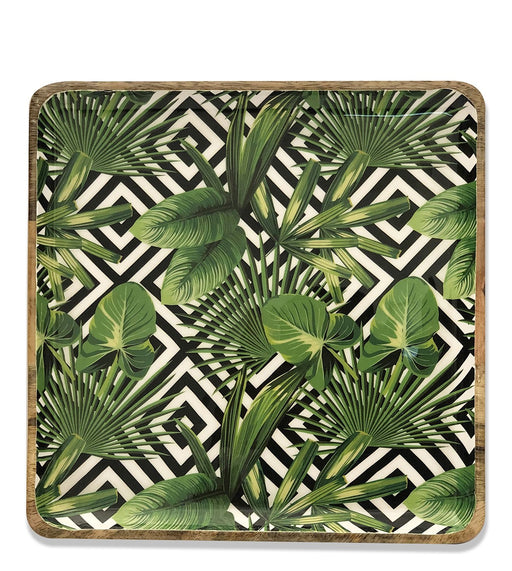 Green & Black The Tropical Paradise Square Platter