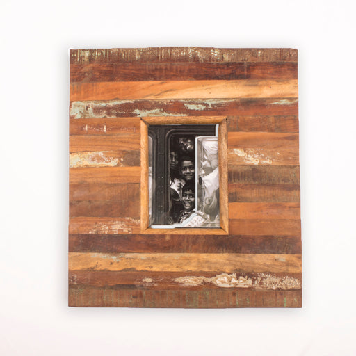 Square Distress Photo Frame
