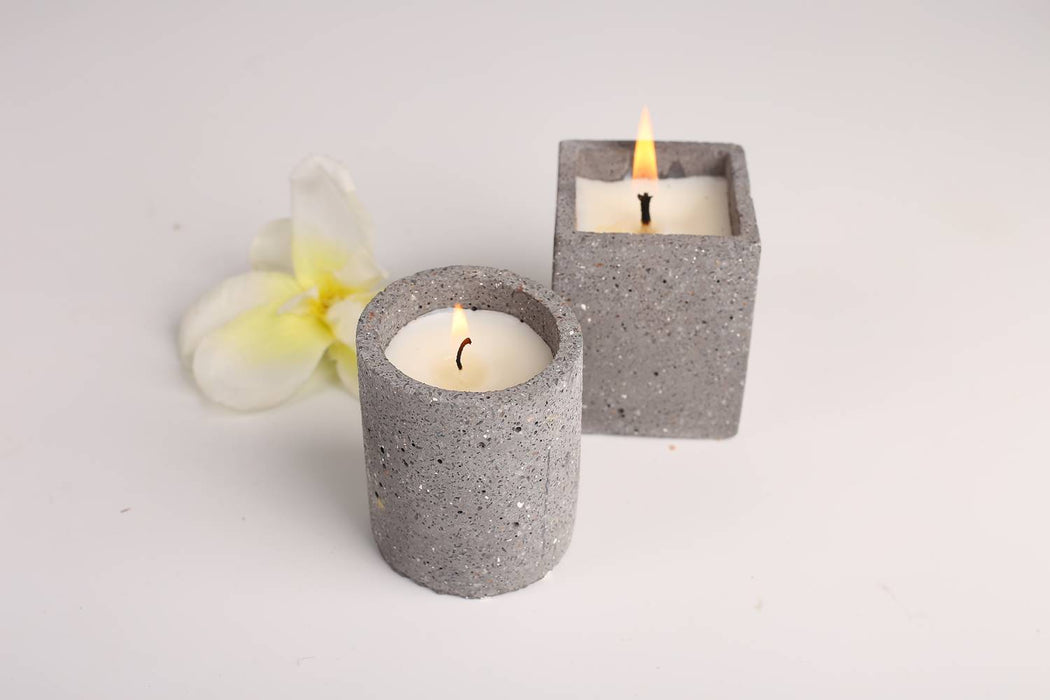 Joy Candle (Set of 2 - Grey)