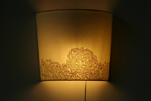 Taman Rangoli Wall Lamp (White & Gold)