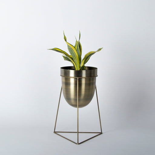 Planter With Triangular Stand