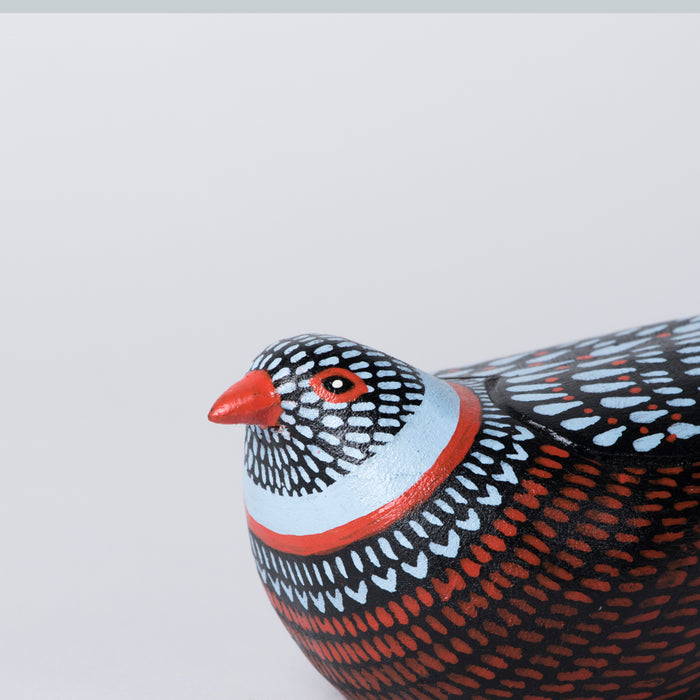 Wooden Bird (Blue & Red)