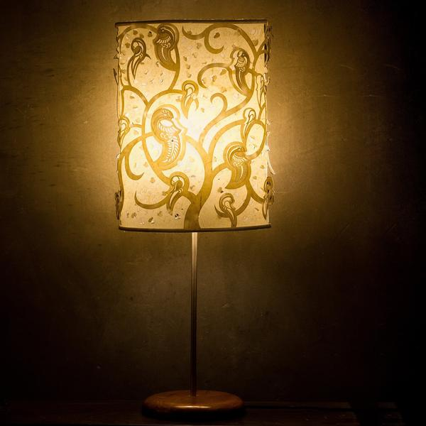 Shadow Play Parrot Table Lamp