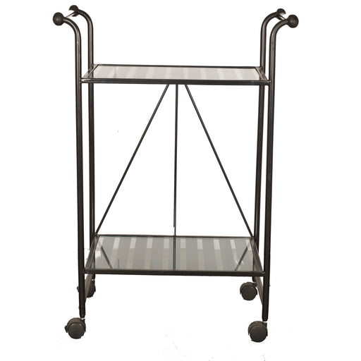 Trolley With Glass Top (Black)