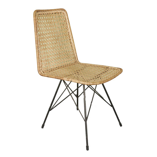 Straight Back Chair with Spider Legs