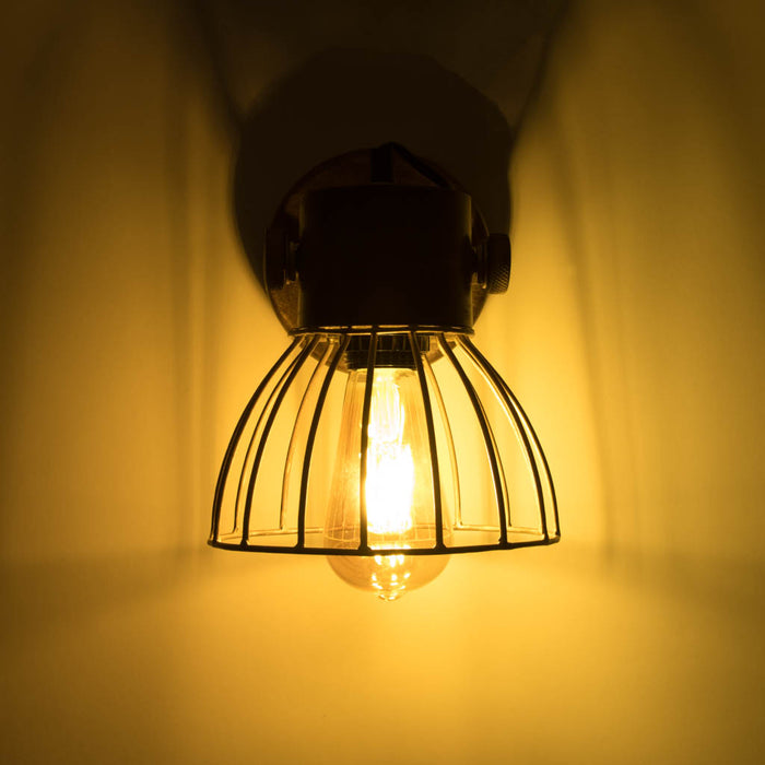 Iron Wire Wall Lamp