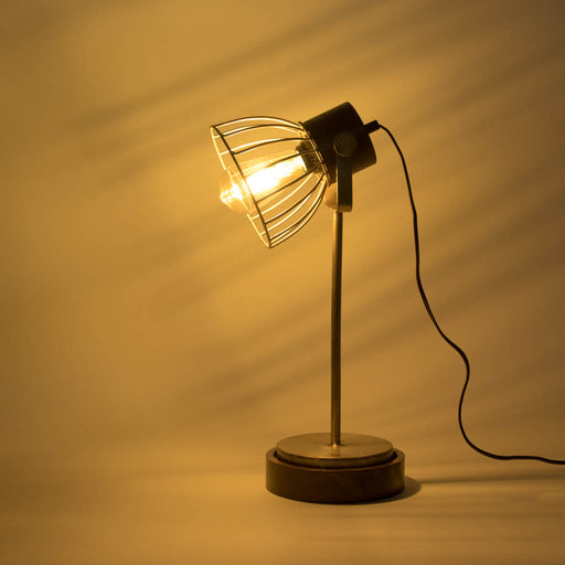 Iron Wire Table Lamp