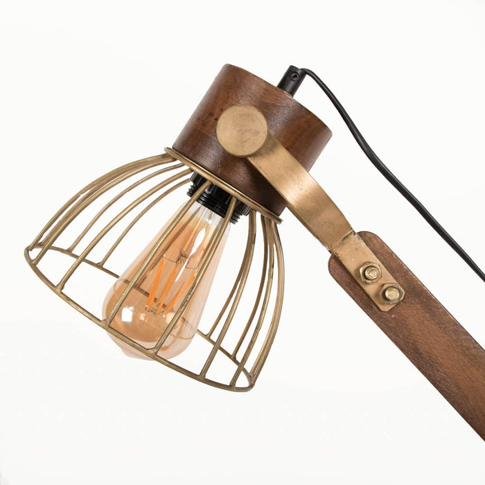 Iron Swing Arm Table Lamp