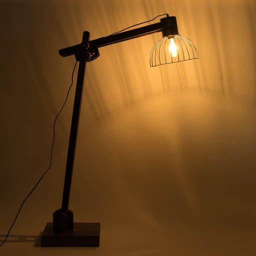 Iron Swing Arm Floor Lamp