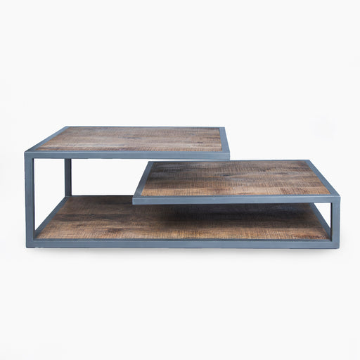 Metal Frame Low Console Table