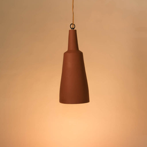 Conical Terracotta Pendant Lamp