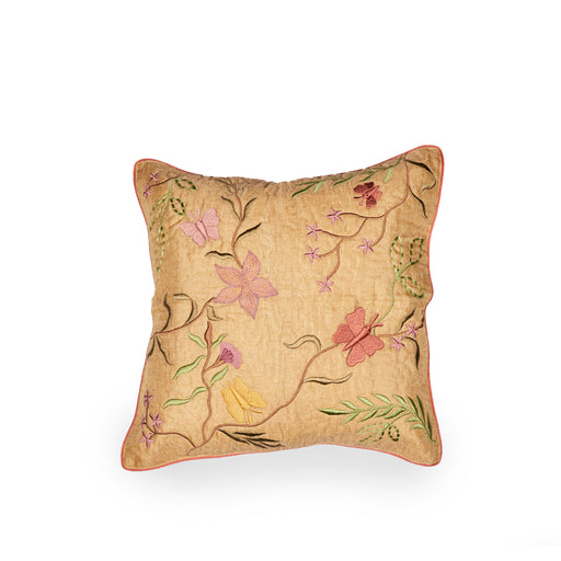 Orchard Patch Khadi Silk Cushion Cover
