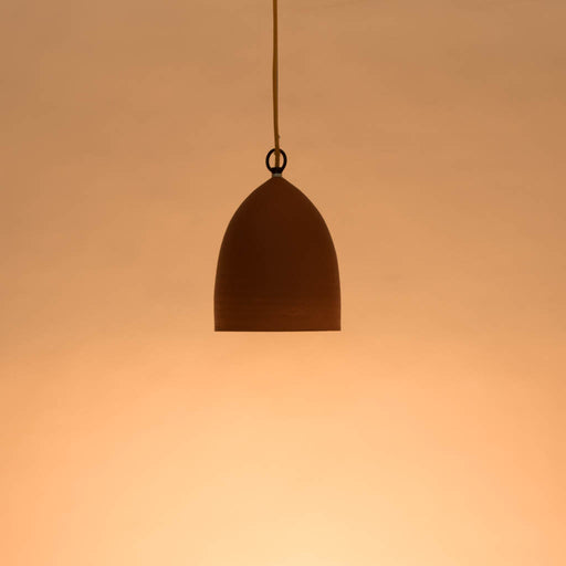 Domical Terracotta Pendant Lamp (Small)